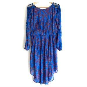 Free People Georgette Long Sleeve Midi Dress Sz M